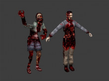 Zombie models with animations (source engine)