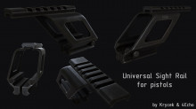 Rail system for pistols