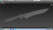 Badlands Bowie High poly model