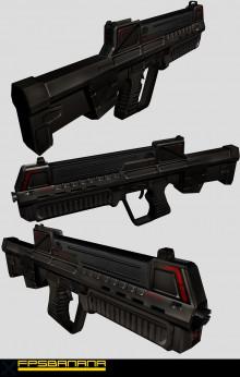 Futuristic Asssult Rifle
