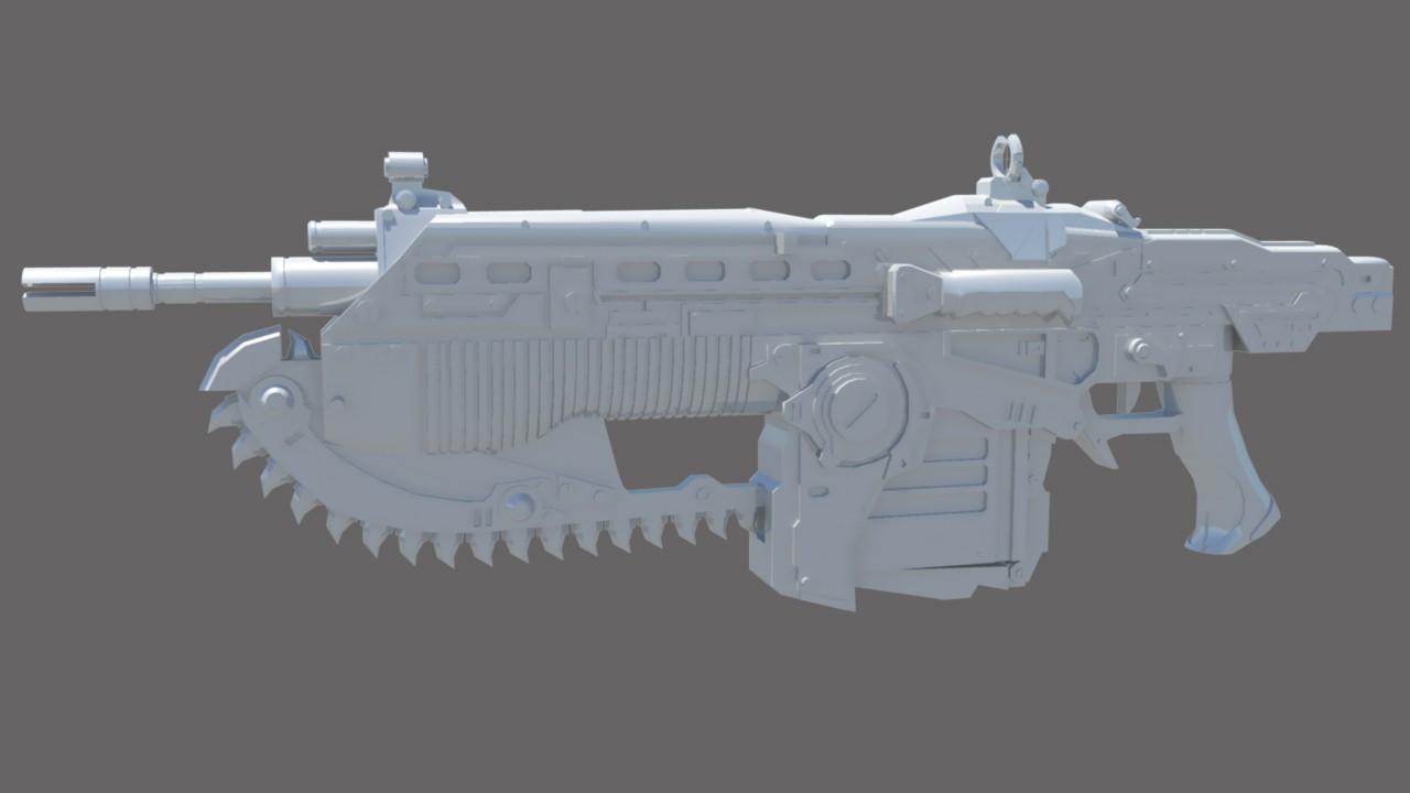 Gears of War 3 Lancer Model screenshot #1