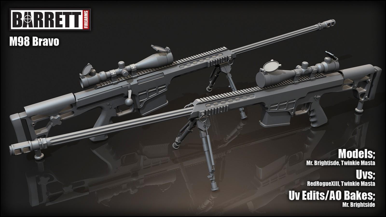 Barrett M98b 3d Models