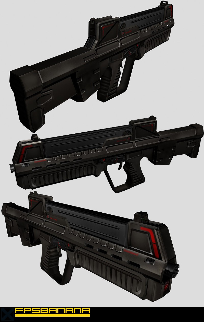 Futuristic Asssult Rifle (Models > Guns > Rifles) - GAMEBANANA