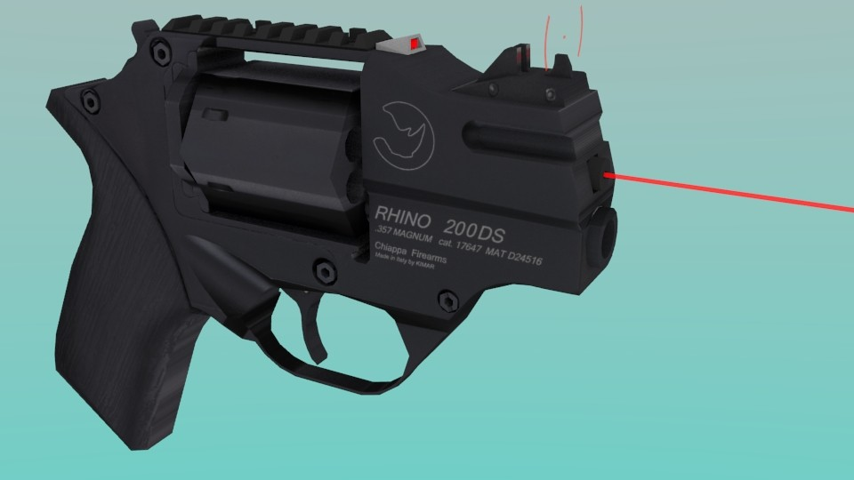 Rhino revolver with Laser Sight and Future Sight (Models ...
