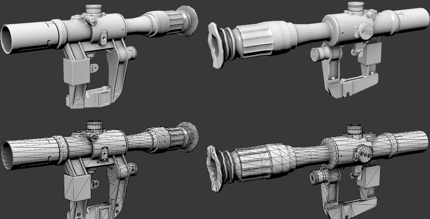PSO1 Scope (hipoly included) Model screenshot #1