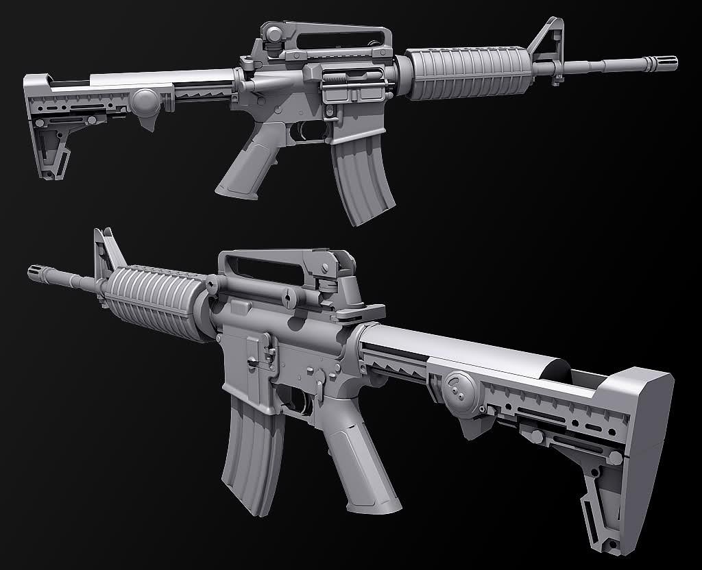 M4 Carbine COMPLETE Model screenshot