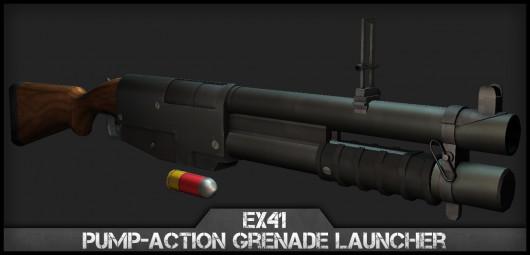 EX41 Pump-Action Nade Launcher