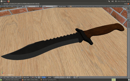 BDS´s Aitor´s Black Bear Knife