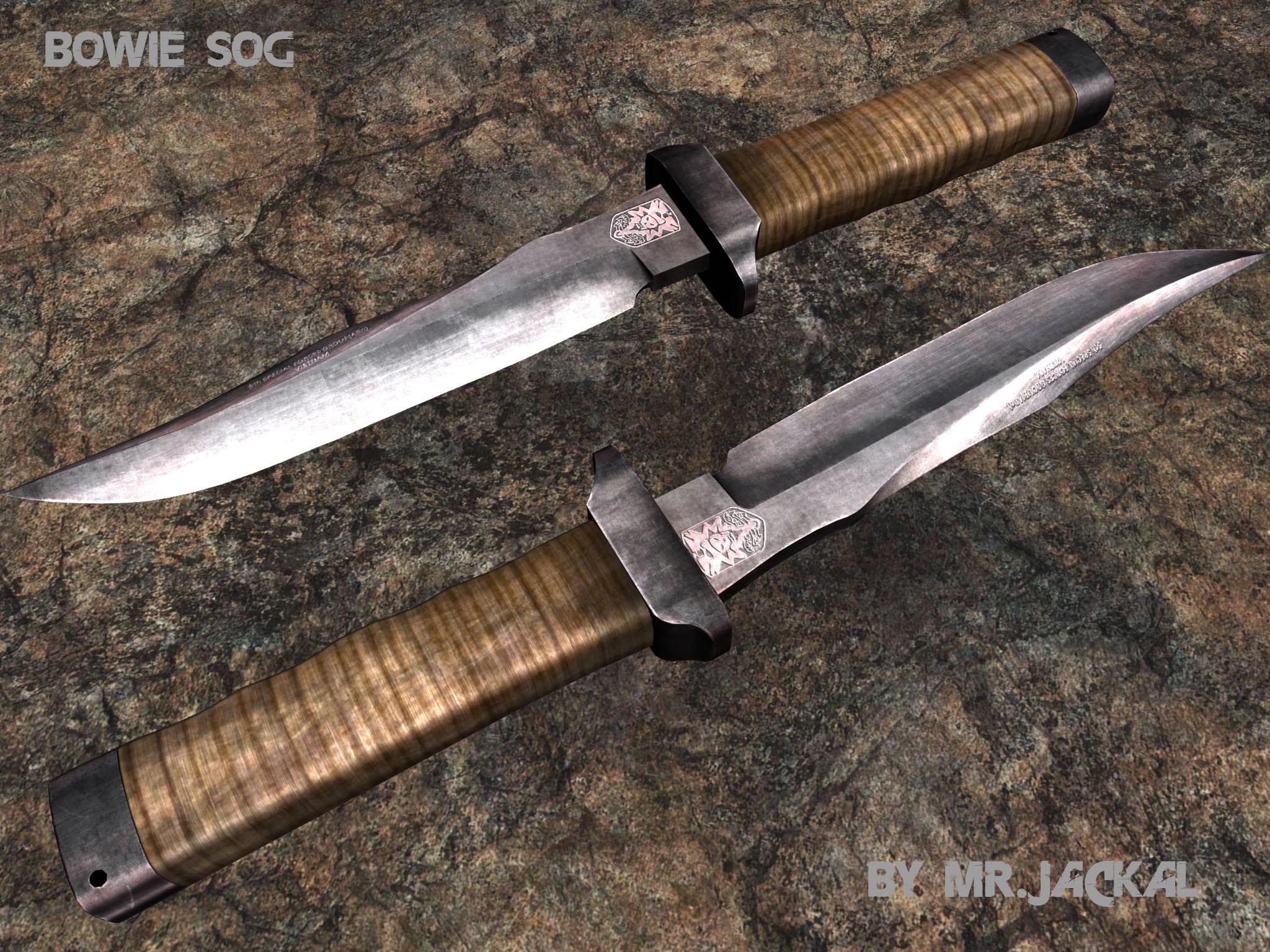 sog bowie knife models gt melee weapons gt knives gamebanana