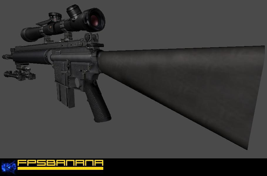 5.56MM MK12 Mod 0 SPR Model screenshot #1