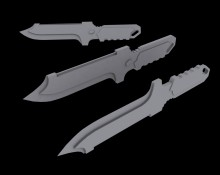 Metal Gear 4 Knife V.2 Model preview