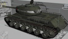 IS-2(122)_(Iosif Stalin tank) Model preview