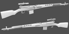 SVT40 + PU 3.5x scope Model preview