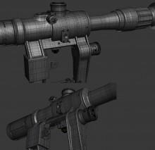 PSO1 Scope (hipoly included) Model screenshot #2