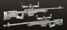L96 Sniper Rifle - Baked Model preview