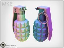 Kaskad's MK2 Frag Grenade Model preview