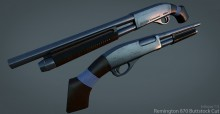 Remington 870 Butt-stock cut Model preview