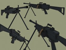 FN249 Minimi Model preview