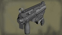 MP5K Rail System Model preview
