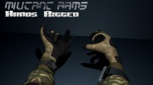 Militant Arms - Hands Rigged Model preview