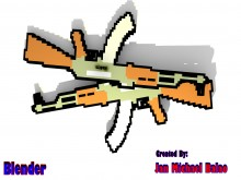 Pixelated Ak47 Model preview