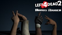 Hands Rigged from Left 4 Dead 2 Model preview