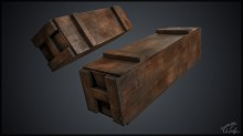 M1A1 Bazooka crate Model preview