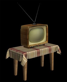 Old style tv Model preview