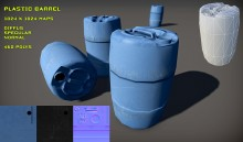 Plastic Barrel Model preview