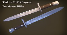 Turkish M1935 Bayonet Model preview