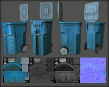 trash bin Model preview