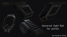 Rail system for pistols Model preview
