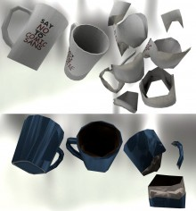 2 Cheap Gibable Mugs Model preview