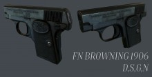FN Browning 1906 Textured Model preview