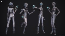 Chiary - Female Alien Character Model preview