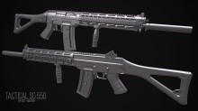 Tactical SG 550 Model preview