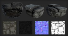 StonePBR material Model preview