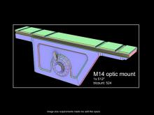 M14 optic mount Model preview