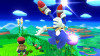 Sonic's new Back Aerial! He does a stylish spin, then...