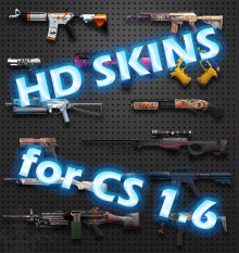 CS:GO HD skins for Counter-Strike 1.6