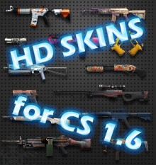 CS:GO HD skins for Counter-Strike 1.6 Project preview