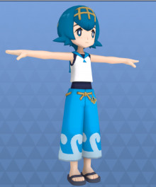 Importing the Hau and Lana models over a Smash character