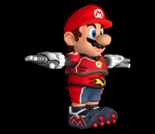 Super Mario Strikers charged model imports