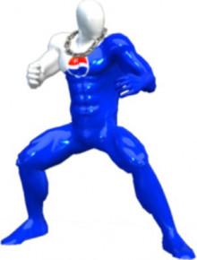 Pepsi man over Captain Falcon