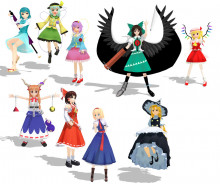 Touhou character model imports for SSB4