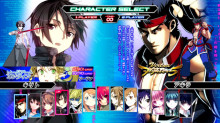 Columned Character Select Screen