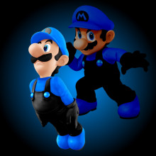 Blue and Black Luigi
