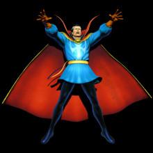 Doctor Strange over Robin