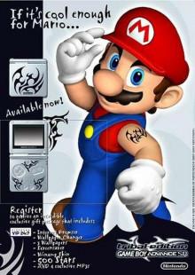 Tribal Tattoo Mario