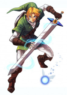 Link with Biggoron Sword over Cloud